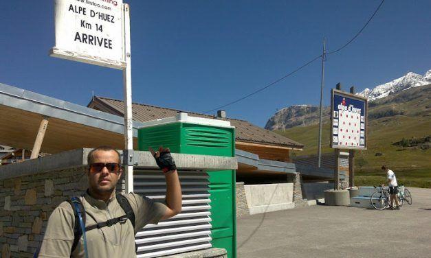 Crónica de la ascensión y descenso del Alpe D'Huez