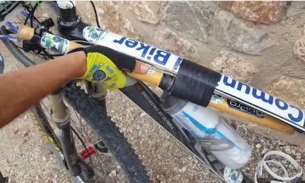La caña selfie y el soporte lanzallamas en la bicicleta de montaña del comunitario Alonsojpd