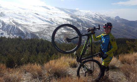 Expedición comunitaria en MTB a Sierra Nevada en Granada en pleno invierno desde Güéjar Sierra