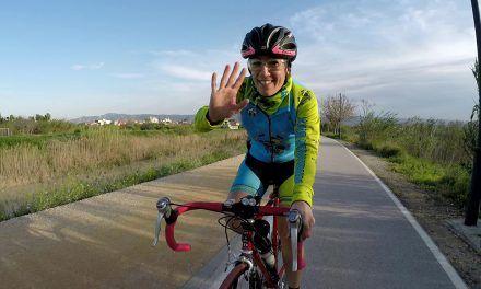 Crónica ruta ciclismo carretera con Kronxito y Patricia por orilla del río y Murcia
