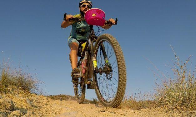Crónica ruta MTB Molina Monte Aire Cabezo Blanco con estreno de cesta en bici de comunitario Kronxito y reflectores en bici de Alonso