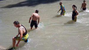 Baño en la Playa del Arenal en Blanca en el río Segura por Comunidad Biker MTB