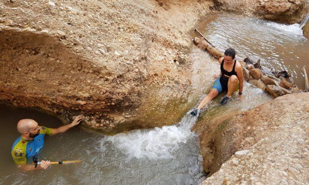 Crónica de la ruta MTB Segundo baño en las pozas frescas del río Chícamo en Abanilla