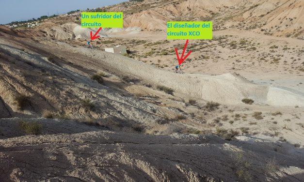 Rutas por el circuito XCO diabólico del comunitario Patrick por las Salinas de Molina