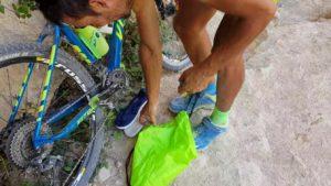 Escarpines de Paquito206 para darse un baño en el Salto del Usero por Comunidad Biker MTB