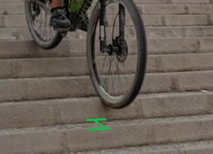 Técnica de descenso de escaleras en ciclismo de montaña - Escalones cortos