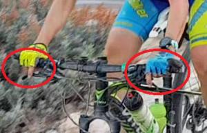 Técnica de descenso de escaleras en ciclismo de montaña - Frenos en descenso