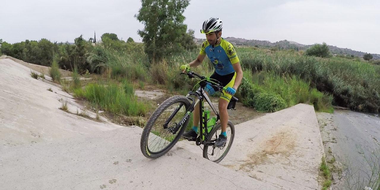 Crónica de la ruta MTB Vía Verde Campus Espinardo Montes Ribera probando WG2 de Feiyu