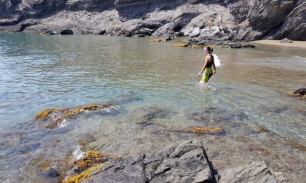 Crónica de la ruta MTB La Unión Parque Minero Portmán Monte Cenizas Atamaría Cala Golera en Calblanque con baño en la playa