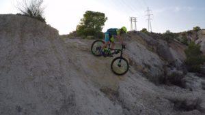 Descenso técnica MTB BTT BXM rampa inclinada en Salinas de Molina por Pedro203 por Comunidad Biker MTB