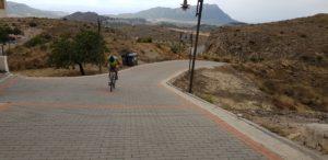 Llegada a meta en la Garapacha de Alino de la premarcha Explosiva de la Pila por Comunidar Biker MTB