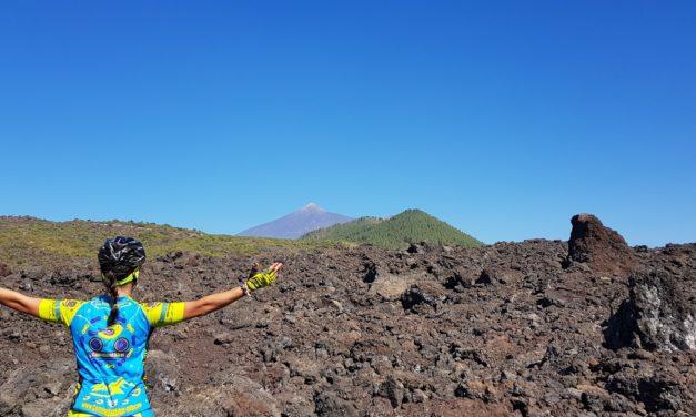 Ruta MTB Santiago del Teide Casona del Patio Montañas Negras Bosque Chinyero Ascenso Antenas Cumbre Bolico