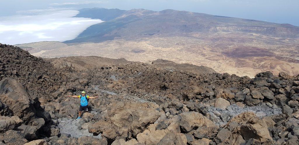 Vistas de la costa con bruma o calima desde el Teide en Tenerife por Comunidad Biker MTB