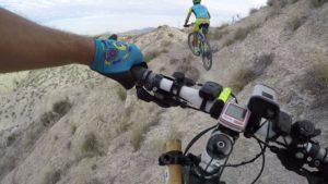 Ascenso por senda técnica en Rambla Salada por Comunidad Biker MTB