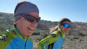 Comunitarias María y Patricia entrenando para la Duatlón Cross de Corvera por Comunidad Biker MTB