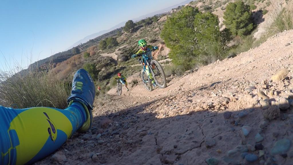 Intento de ascenso MTB BTT de jamón inclinado en las Salinas de Molina por Comunidad Biker MTB