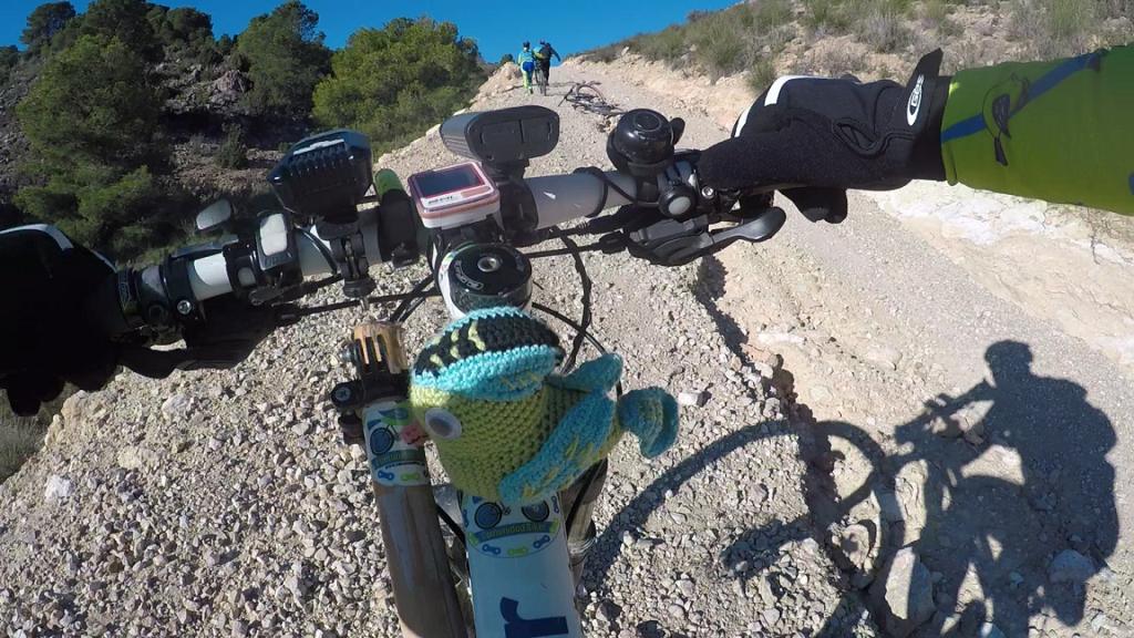 Ascenso de jamón o rampa inclinada en las montañas de la Puebla de Mula y Pliego por Comunidad Biker MTB