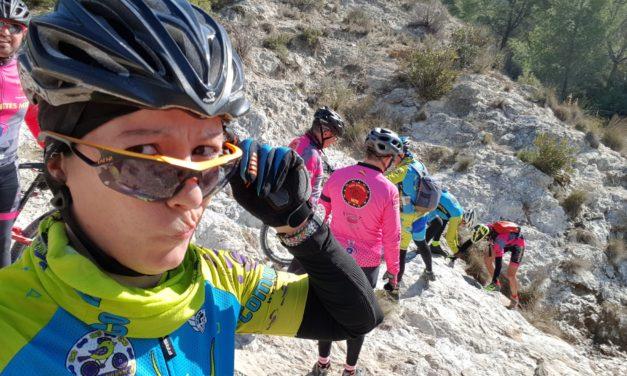 Crónica de la ruta MTB Rambla Monjas Senda Rápida Coto Cuadros Valientes Sendero Cordeles Rambla Chorrillo Hoya Marzo Rellano