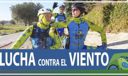 Vídeo | Lucha contra el viento en ruta de ciclismo de montaña