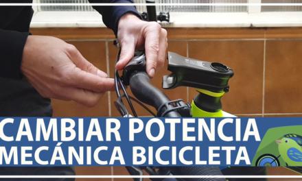 Vídeo | Cómo cambiar la potencia de la bicicleta