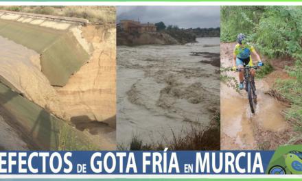 Vídeo | Los efectos de la gota fría DANA por Murcia en ruta de ciclismo