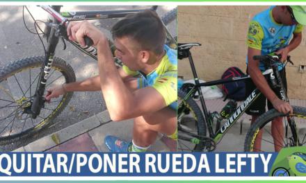 Vídeo | Cómo quitar y poner la rueda de bicicleta con horquilla lefty